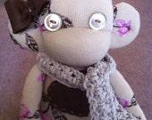 Sock monkey doll, sock monkey, sockmonkey, stuffed monkey, sock dolls