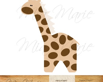 INSTANT DOWNLOAD - Digital Clip Art Giraffe clipart, Giraffe clip art, zoo clip art, zoo clipart, safari clipart, animal, baby printable
