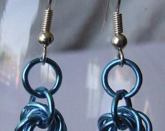 Mobius loop Chainmail Earrings