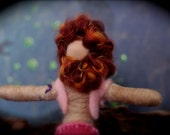 Bradley the Manly Mermaid- OOAK Pink Waldorf Pipe Cleaner Mermaid doll