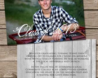 Photo Graduation Announcement