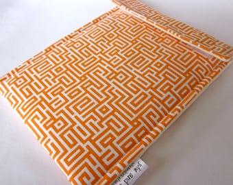 Sale iPad mini OR Kindle Fire OR 7 in nook HD sleeve - orange tangerine mandarin geometric maze lines tablet case ready to ship