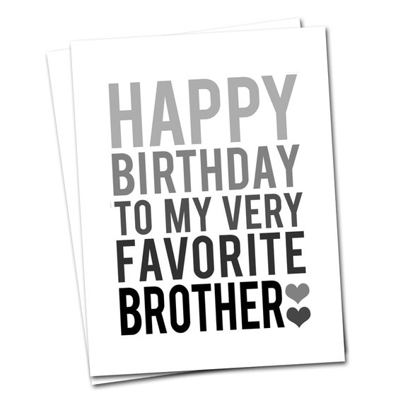 Preferenza CARTA di compleanno fratello grigio e nero felice auguri VM33