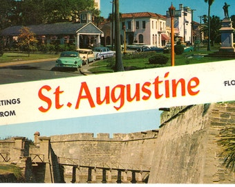 Greetings From St. Augustine Florida - Vintage Postcards