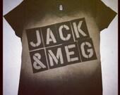 Jack & Meg Bleachy Tee
