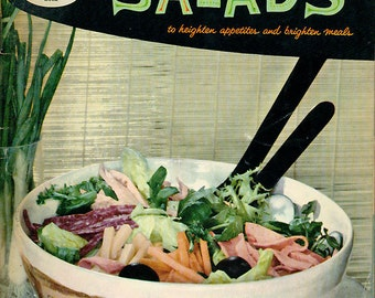 Good Housekeeping Cookbook BOOK OF SALADS Vintage 1950s Recipe Booklet
