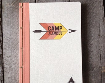 Personalized Retro Camp Journal- Choose Your Own Binding and Cover Material