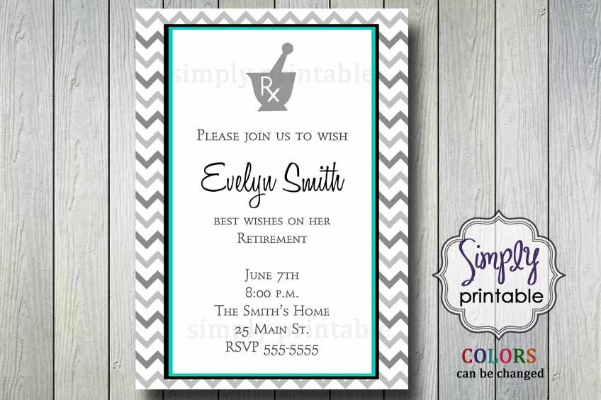 pharmacist retirement party invitation, Party invitations
