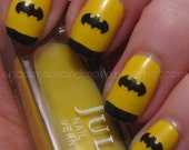 Bat Logo Nail Decals- Set of 50- YOU CHOOSE COLOR- Nail Vinyls