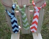 Chevron Baby Tie - LARGE CHEVRON FABRICS - (Adjustable Neck Tie) Baby & Toddler Tie Sizes