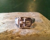 Peter's Cross Ring is a chunky comfortable sterling ring