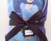 Purple Princess Baby Blanket - Cuddly Cinderella Fleece Stroller Blanket
