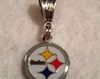 Pittsburgh STEELERS Inspired European CHARM - Fits most Name Brand Big-hole and Snake-type bracelets