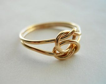 Love Knot 14k Gold Filled Infinity Ring