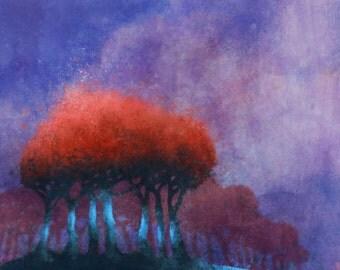 Red Bean Tree 05: Giclee Fine Art Print 13X19