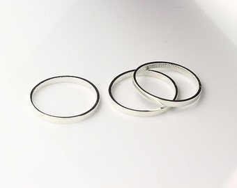 2mm Fingerprint Ring Sterling Silver ----Custom Wedding or Commitment engraving Band