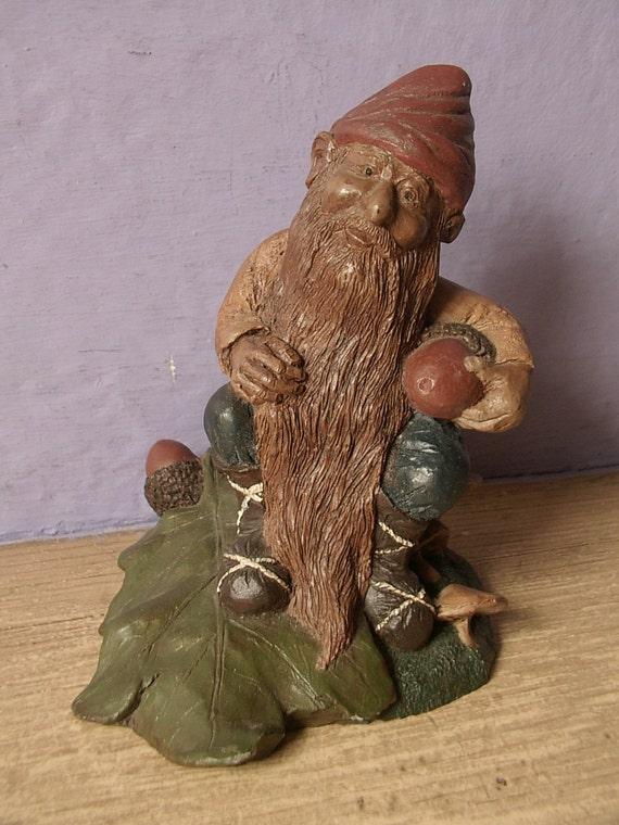 Vintage 1980's Gnome Figurine, signed, 1988, fantasy figurine, fairy tales, fantasy decor, Pittsburgh