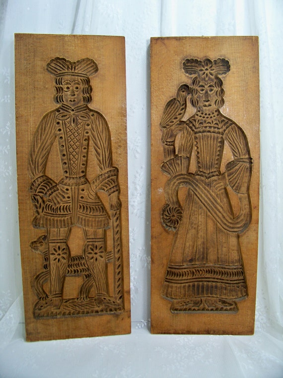 Vintage Speculaas Boards Dutch Molds Holland Hand Carved