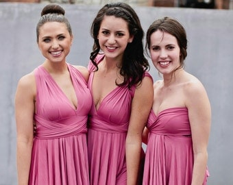 Blush Pink Dusty Rose Bridesmaid Dress