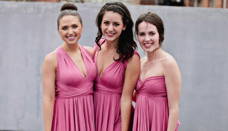 Blush pink dusty rose bridesmaid dress zoom ombrellifo Choice Image