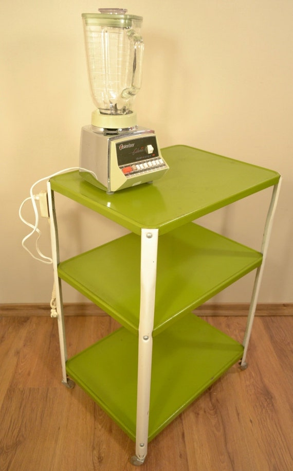 Green Kitchen Utility Cart Electrical By RelicsAndRhinestones