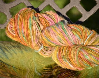 Tropical Sobert Hand dyed Handspun Yarn