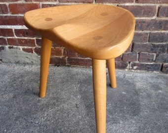 Stool made from sustainably sourced cherry.