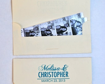Photobooth Photo-Strip Envelopes Wedding Party Favor Spring-Summer Theme Photo Booth Frames