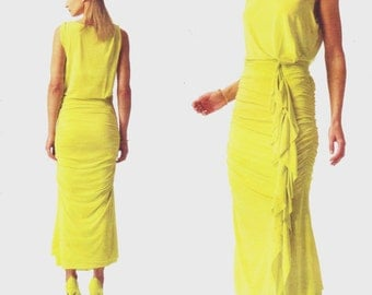 Guy Laroche Womens Ruched Summer Dress OOP Vogue Paris Original Sewing Pattern V1339 Size 8 10 12 14 16 Bust 31 1/2 to 38 UnCut