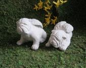 Bulldog Angel, Bulldog Statue, Memorial Statues, Pet Memorials, Bulldogs, Two Bulldog Angels, Bulldog Memorial, Bulldog Dog Statues,