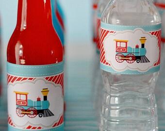 DIY printable food label tent cards - choo choo train
