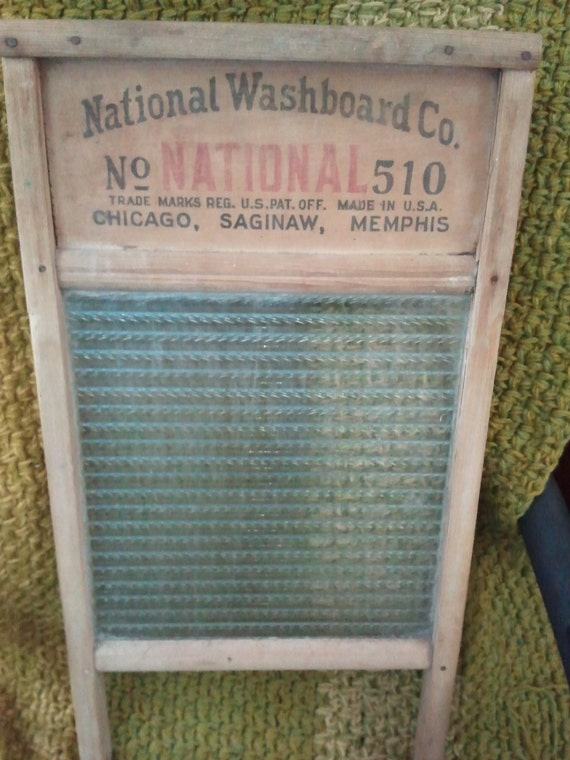 Vintage Reclaimed National Washboard Co No 510 Atlantic Made