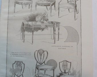 1911 print collection Colonial Furniture