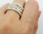 Silver spinner ring. Unisex Sterling silver gold filled spinner ring (52417)Anniversary gift , silver gold ring,spinner men ring.