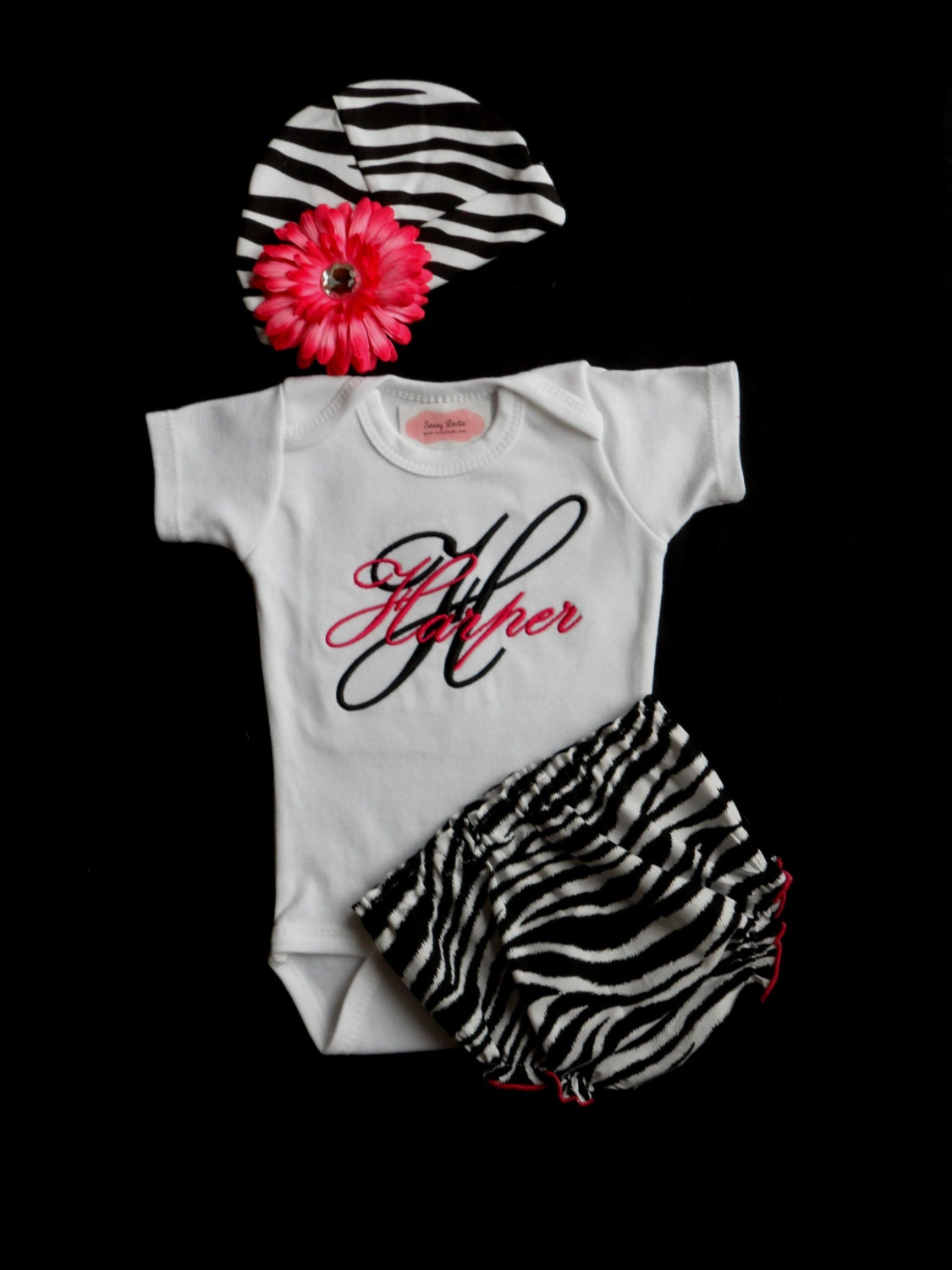 Monogram Baby Girl Clothes Newborn Girl Take Home by