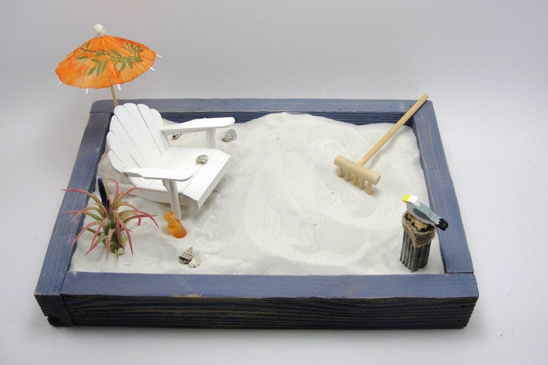Miniature Zen Beach Garden Kit Adirondack Chair By