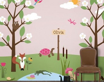 Forest Wall Mural Stencil Kit for Kids Room Baby Nursery (stl1009)