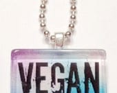 Vegan Game Tile Pendant