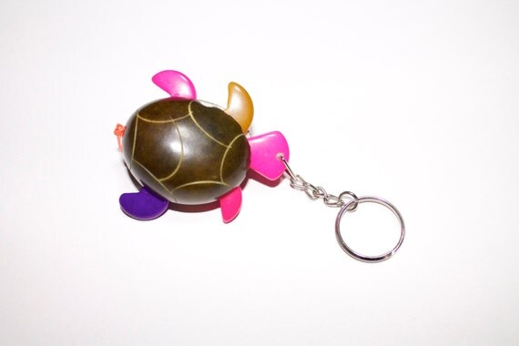 Turtle Shaped Tagua keychain