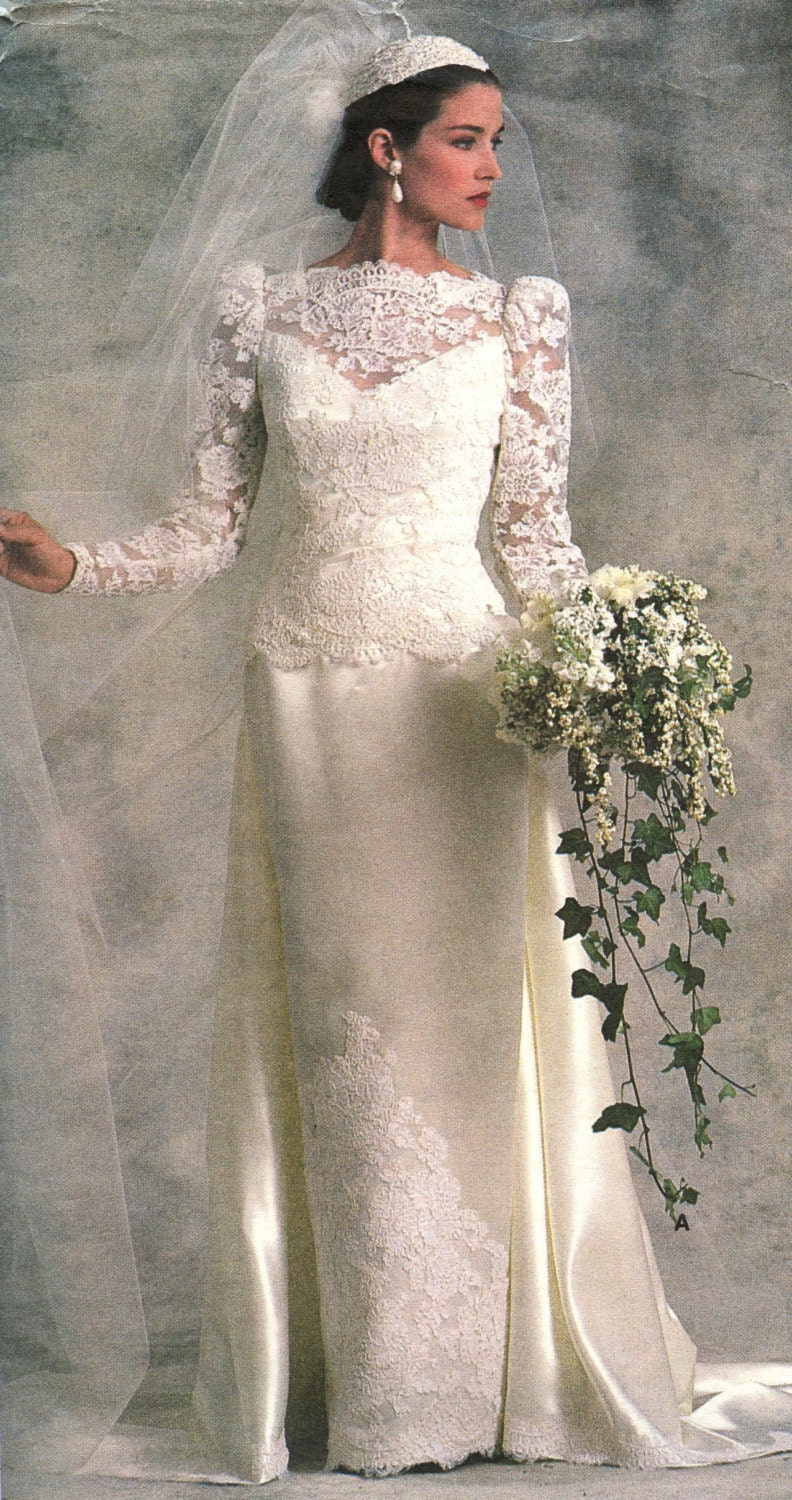 1980s Vogue Bridal Original 1829 Misses Bridal Or Bridesmaid