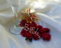 Bridal Shower Table Decor, Bride Gifts, Wine Glass Charm