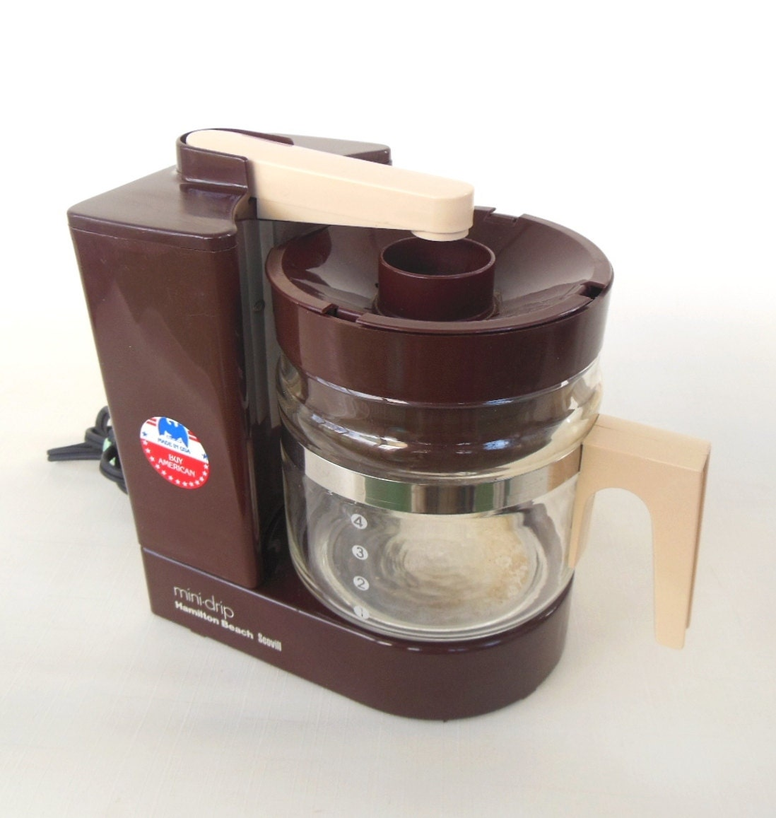 Mini Drip Coffee Maker : 1980s Coffee Maker Brown Hamilton Beach Mini Drip
