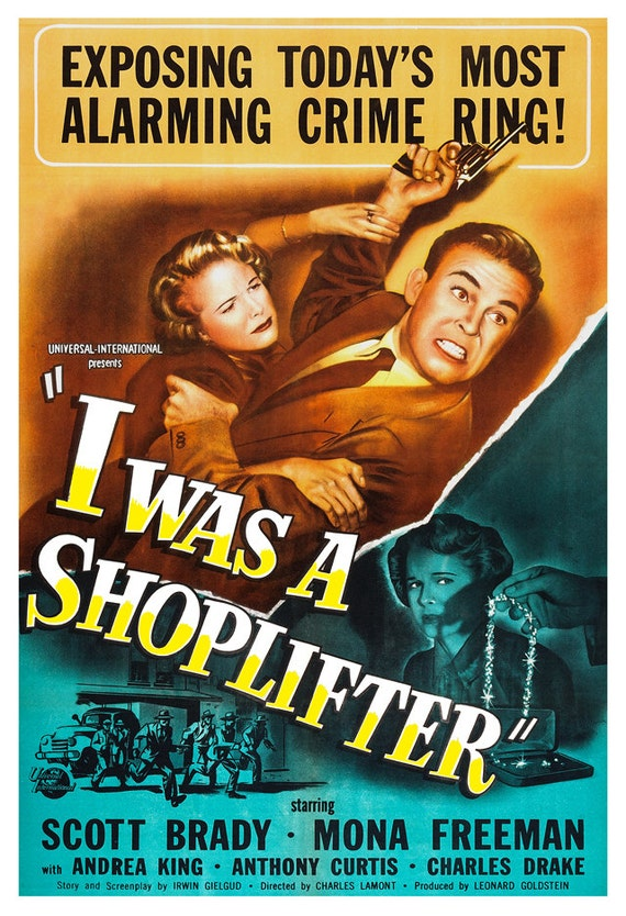 I Was A Shoplifter Home Theater Decor Crime Drama Movie