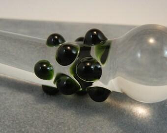 Glass Dildo MINI Pocket Mature Sex Toy Massager Deep Green (38)