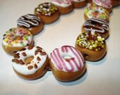 Donut Lampwork Glass Beads