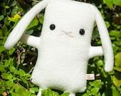 Lop Ear Bunny plush, 6 colors, cute lop eared rabbit stuffed animal plushie, stuffed bunny toy doll, White Gray Tan Charcoal Brown Black