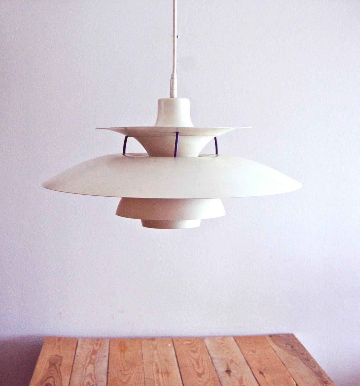 Danish Designer Poul Henningsen PH 5 Pendant 1958. Design