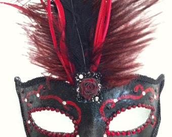SALE Mistress Vampiress - Venetian Style Mask