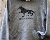 Game of Thrones // Winter Is Coming // Eco-Fleece hoodie // hooded pullover sweatshirt // Stark House of Winterfell // Direwolf Sigil