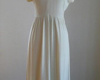 1940's Cream Rayon & Sequin Dress